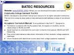 batec resources