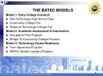 the batec models