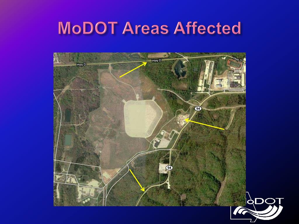 MoDOT Areas Affected