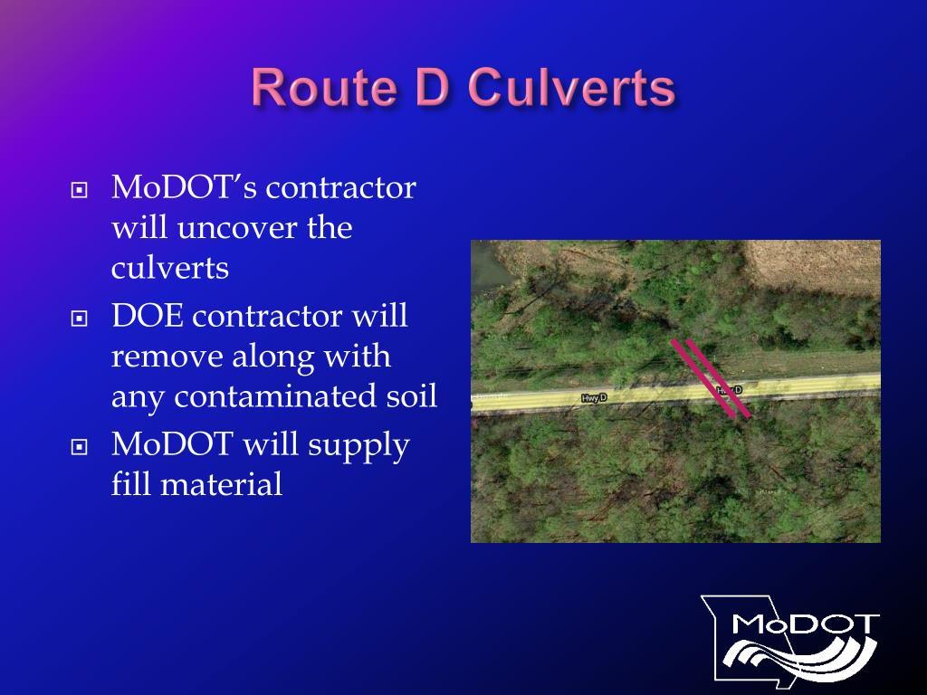 Route D Culverts
