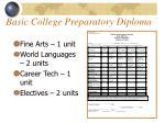 basic college preparatory diploma
