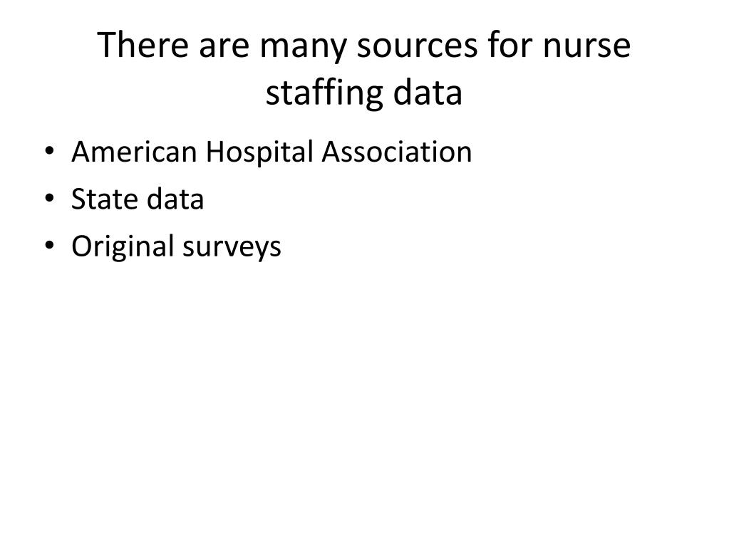 PPT - Patient Safety and Nurse Staffing PowerPoint