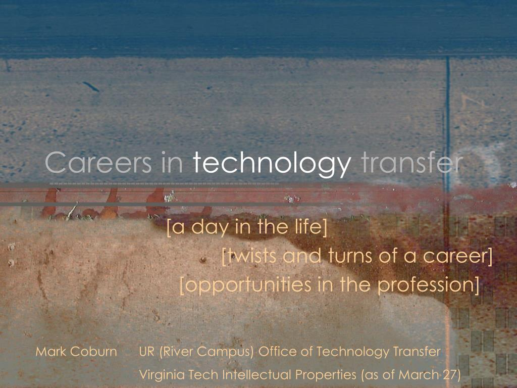 careers in technology transfer l.