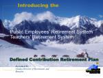public employees retirement system teachers retirement system defined contribution retirement plan