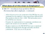 what does all of this mean to employers28