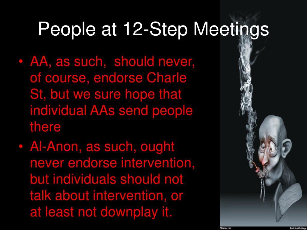 People at 12-Step Meetings