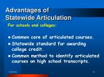 advantages of statewide articulation