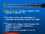 ex a student earns an 80 3 0 or above in the following statewide articulated courses46