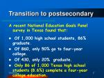 transition to postsecondary