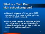what is a tech prep high school program