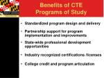 benefits of cte programs of study