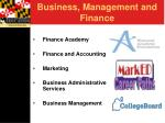 business management and finance