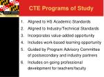 cte programs of study