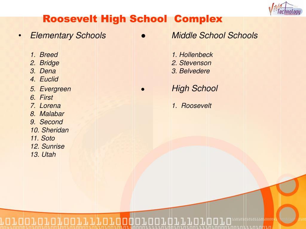 Roosevelt High School  Complex