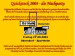 quickstock 2004 die nachparty