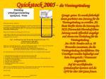 quickstock 2005 die vereinsgr ndung