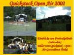 quickstock open air 20026
