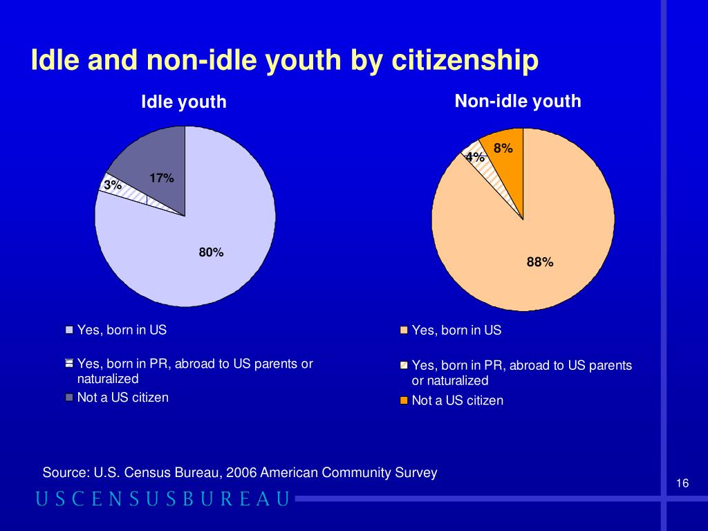 Idle and non-idle youth by citizenship