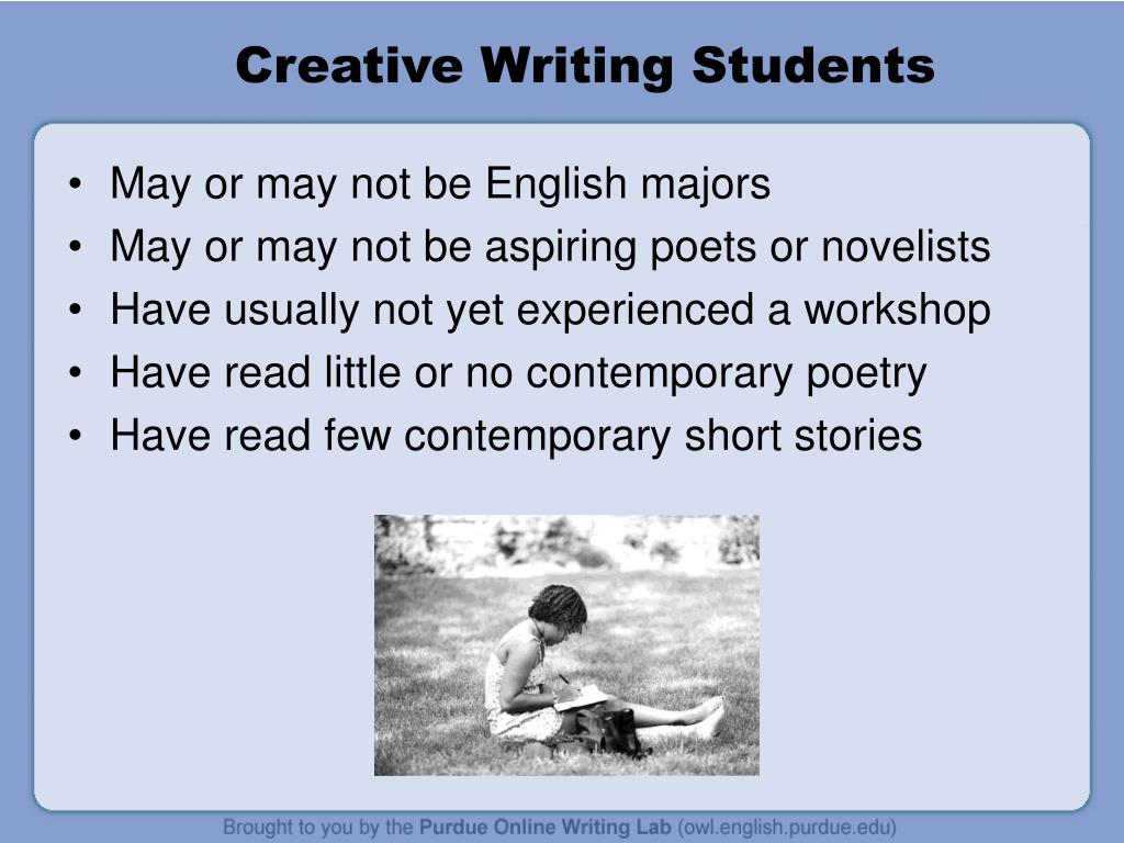 Creative Writing Students