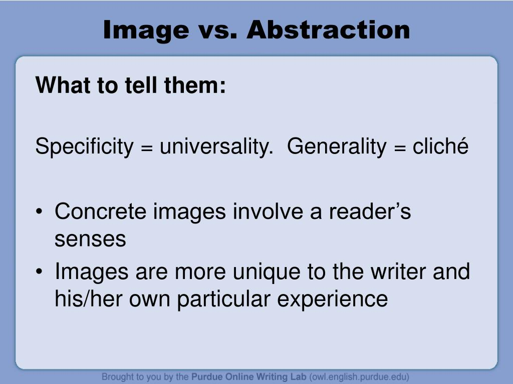 Image vs. Abstraction