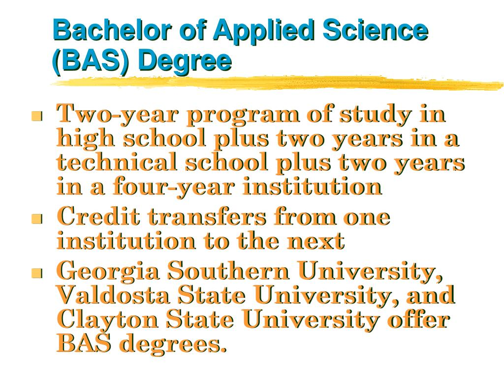 Bachelor of Applied Science (BAS) Degree