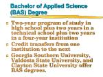 bachelor of applied science bas degree