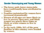 gender stereotyping and young women