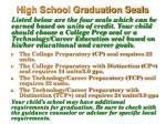 high school graduation seals