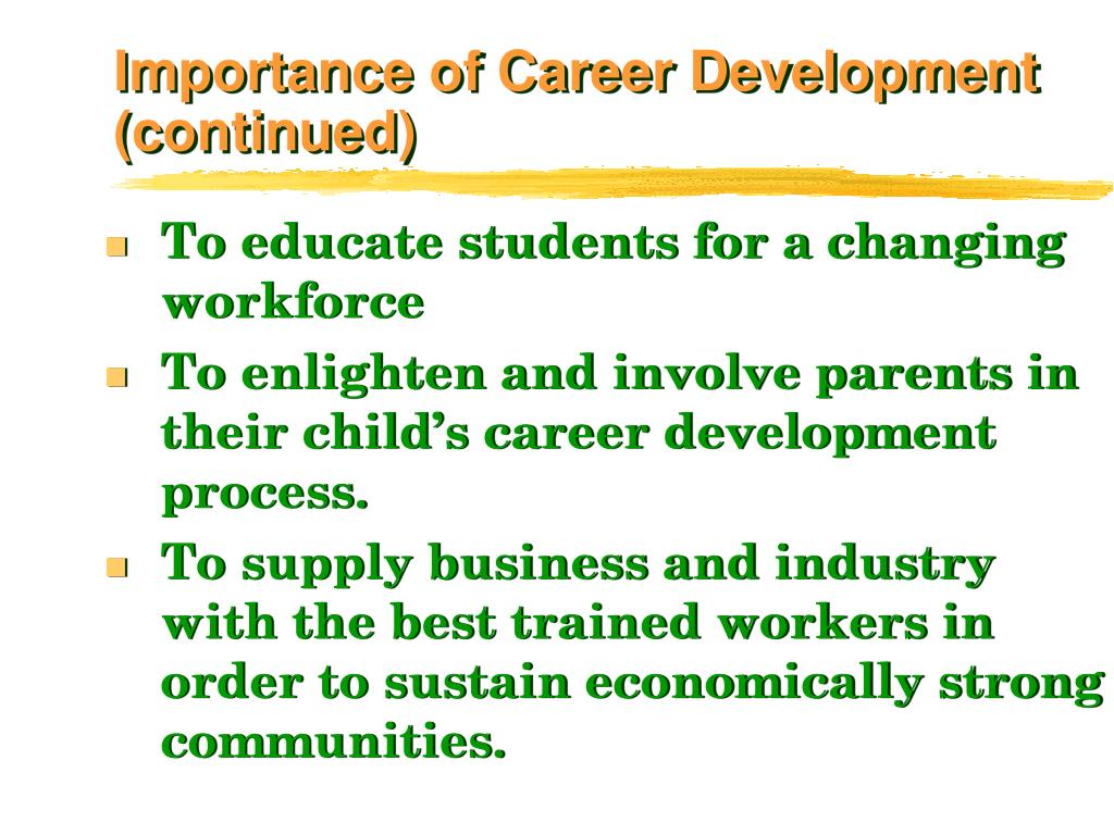 Importance of Career Development