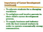 importance of career development continued