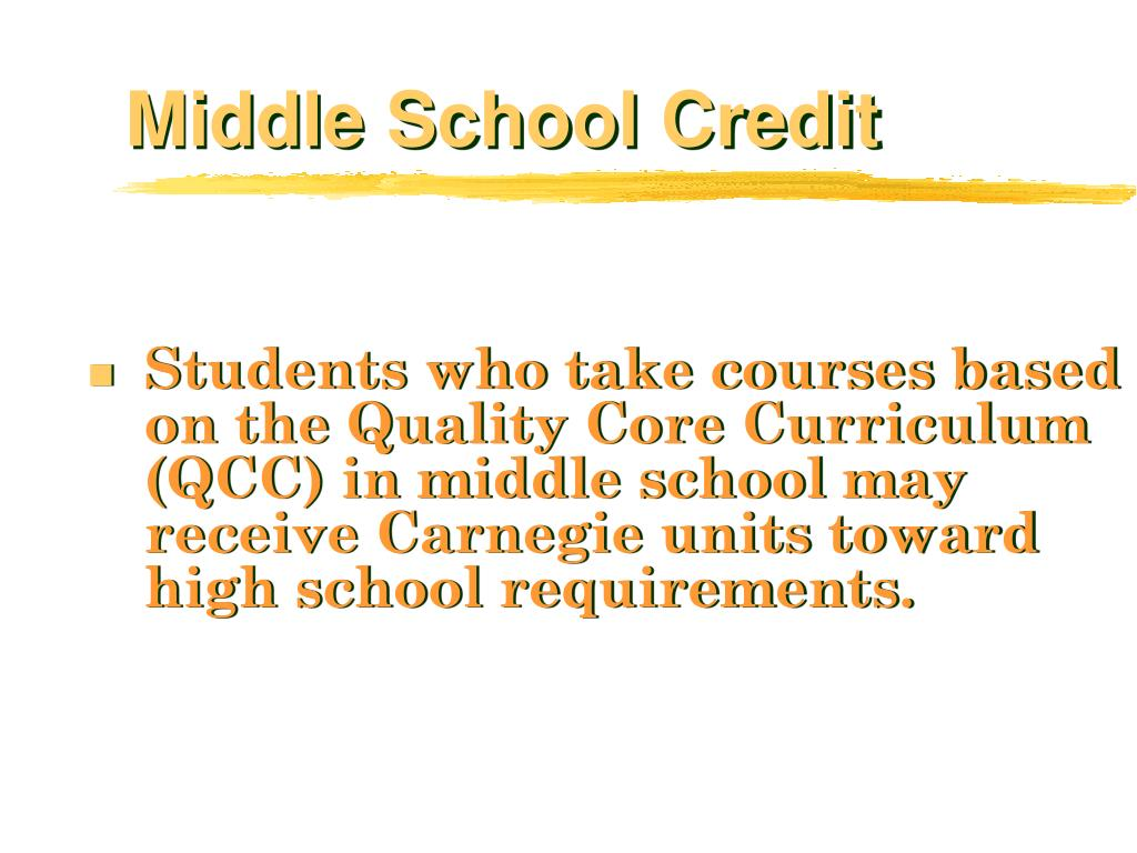 Middle School Credit