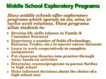 middle school exploratory programs