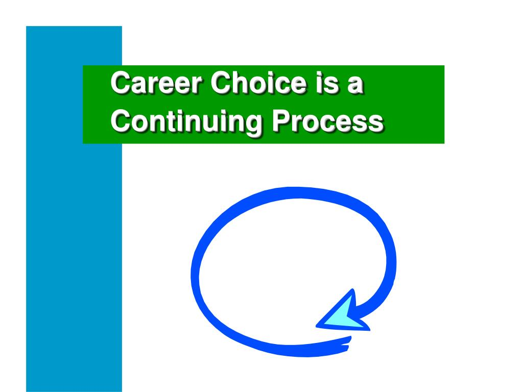 Career Choice is a Continuing Process