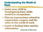 understanding the world of work