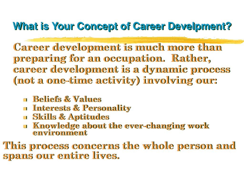 What is Your Concept of Career Develpment?