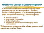 what is your concept of career develpment
