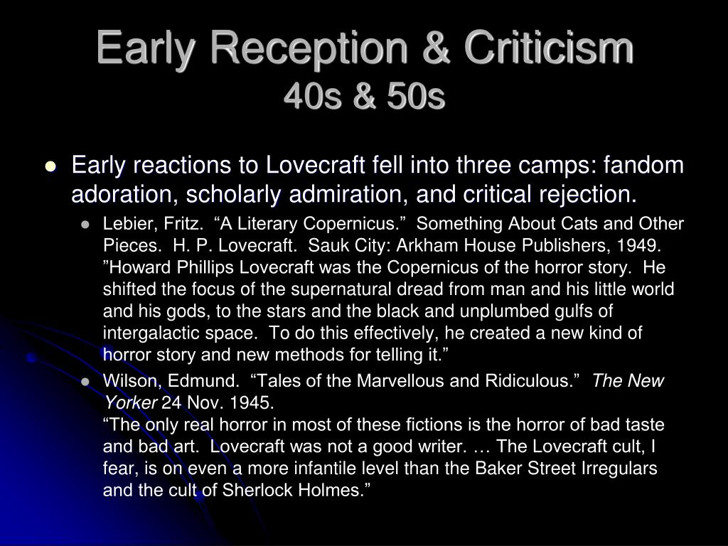 Early Reception & Criticism
