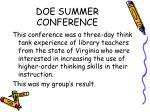 doe summer conference