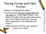 pairing fiction with non fiction