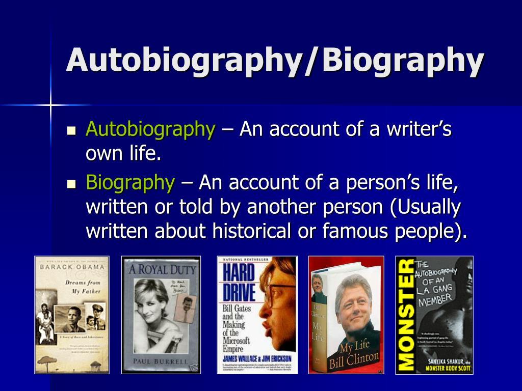 Autobiography/Biography