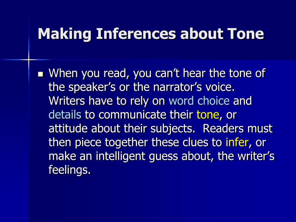 Making Inferences about Tone