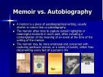 memoir vs autobiography