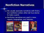nonfiction narratives