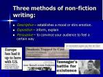 three methods of non fiction writing