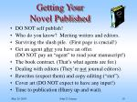 getting your novel published