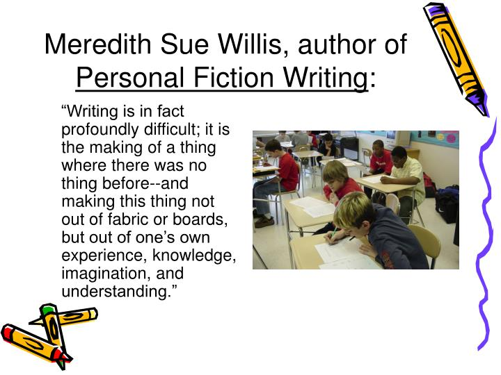 Meredith sue willis author of personal fiction writing