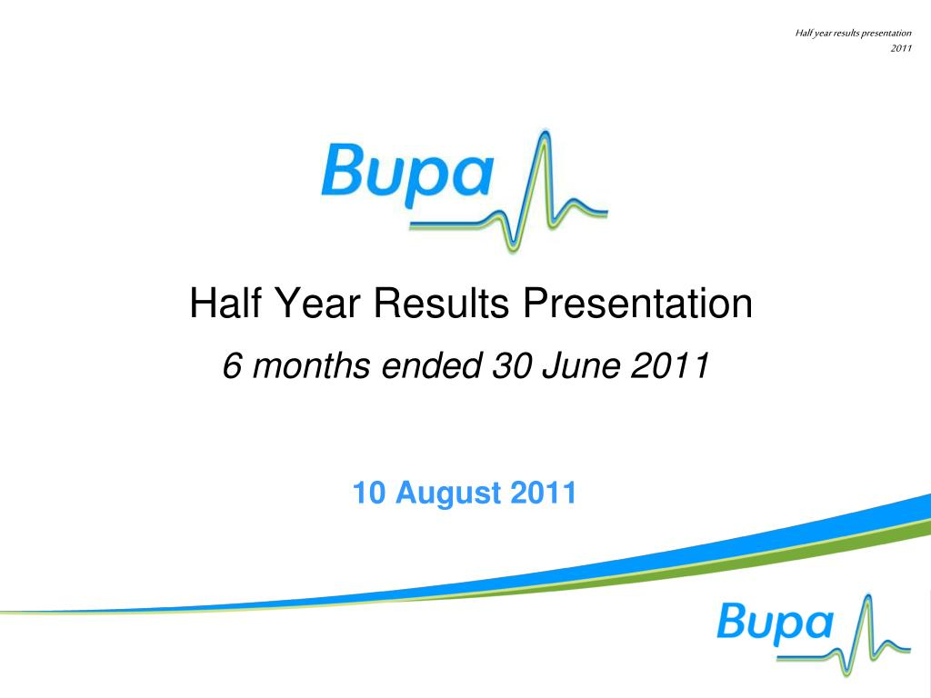 half year results presentation
