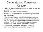 corporate and consumer culture