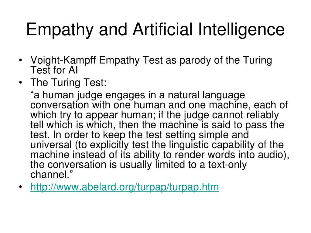 Empathy and Artificial Intelligence