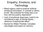 empathy emotions and technology